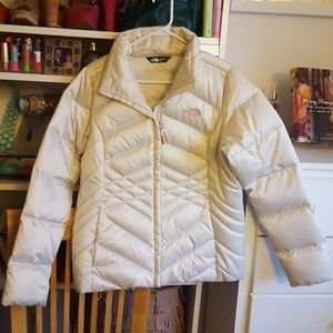 The North Face White Puffy Coat